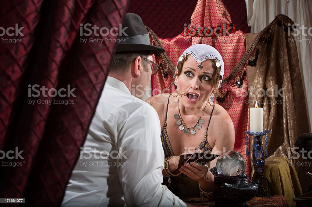 Surprised Fortune Teller royalty-free stock photo