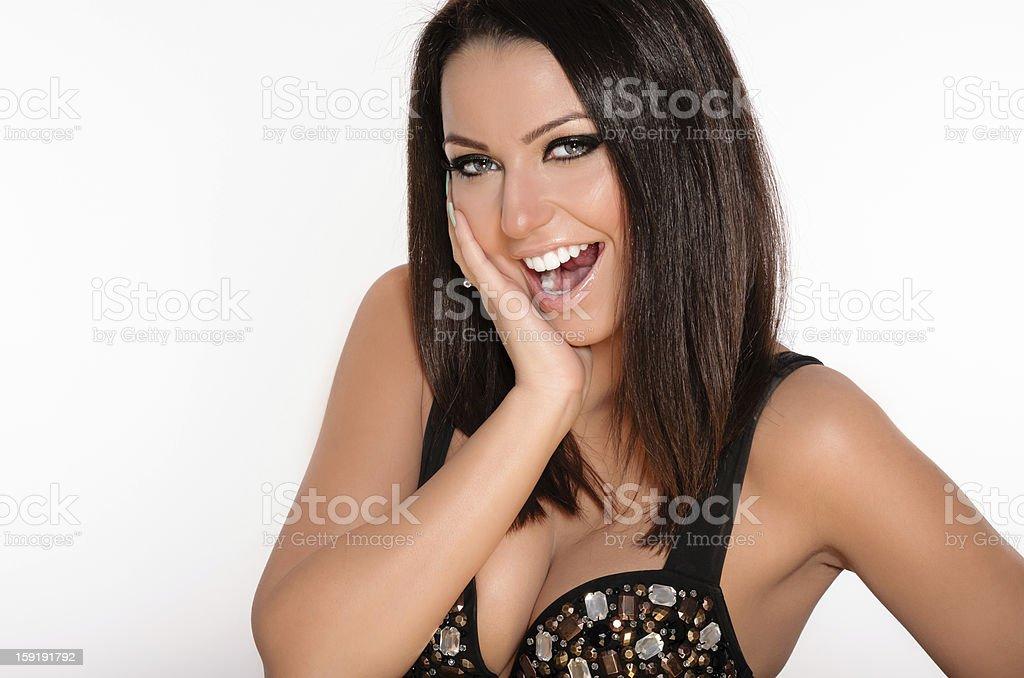 Surprised girl royalty-free stock photo