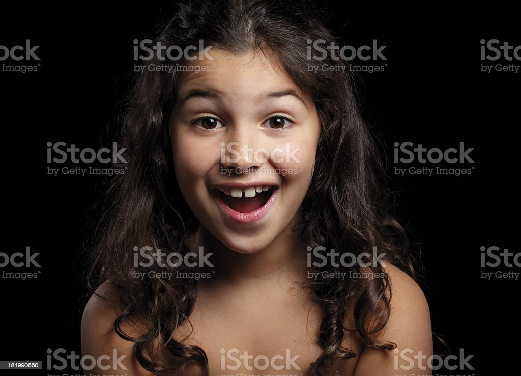 Surprised girl stock photo