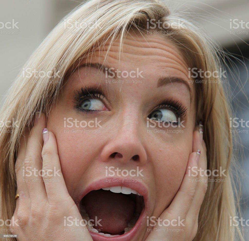 Chica sorprendida foto de stock libre de derechos