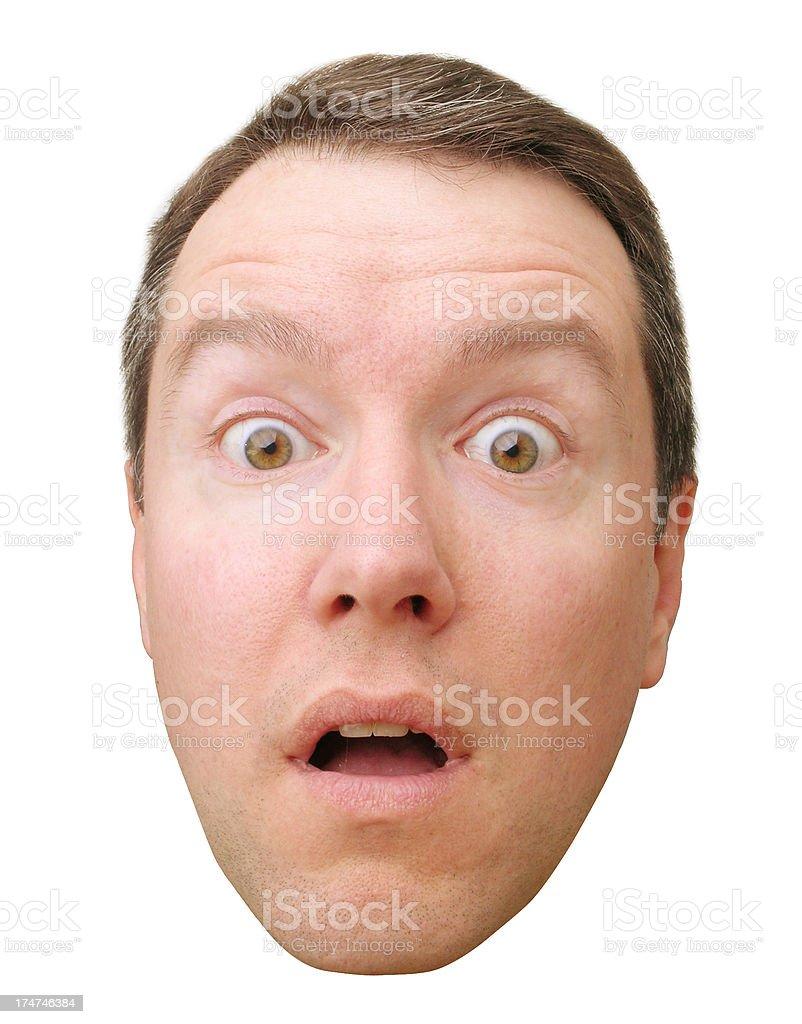Surprised Head royalty-free stock photo