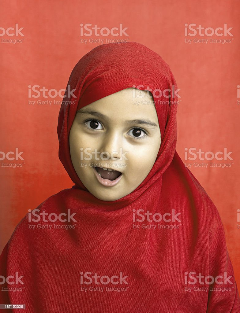 Surprised little girl royalty-free stock photo