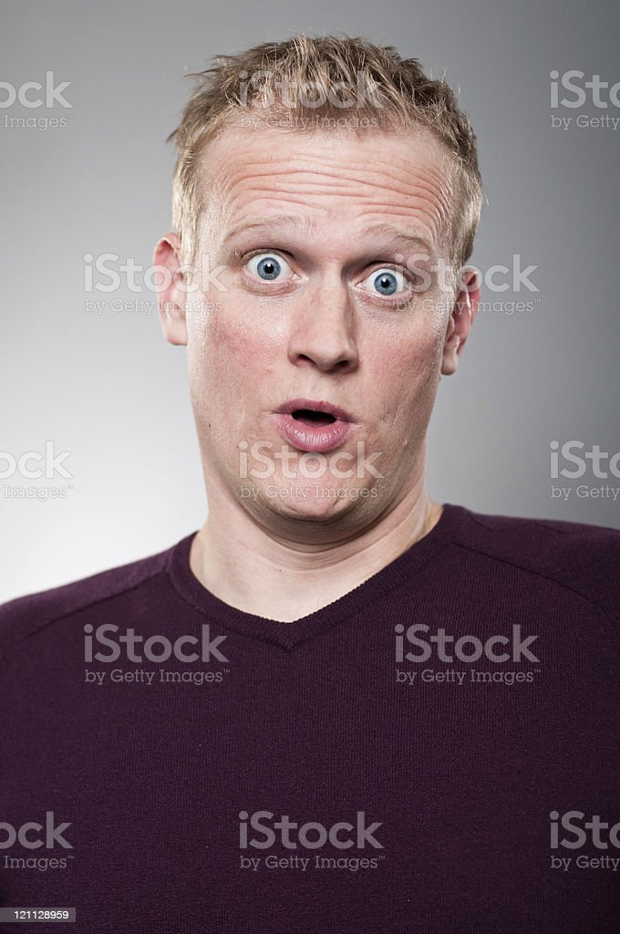 Surprised Look Portrait royalty-free stock photo