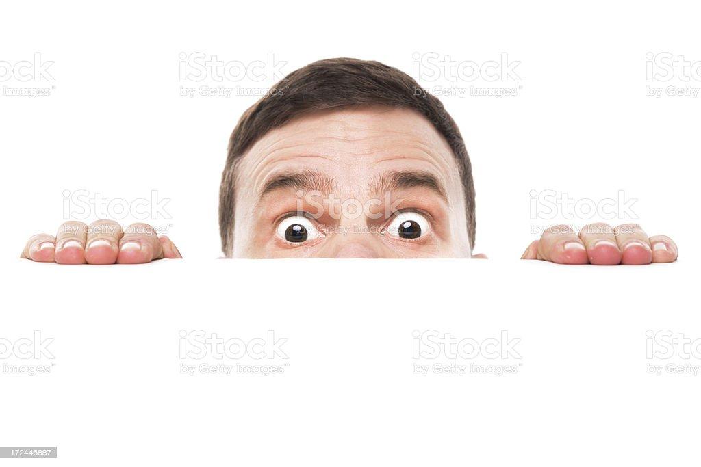 Surprised Looking Man stock photo