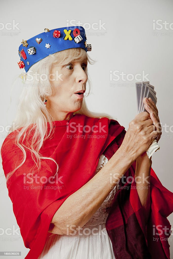 Surprised Lucky Gambler royalty-free stock photo