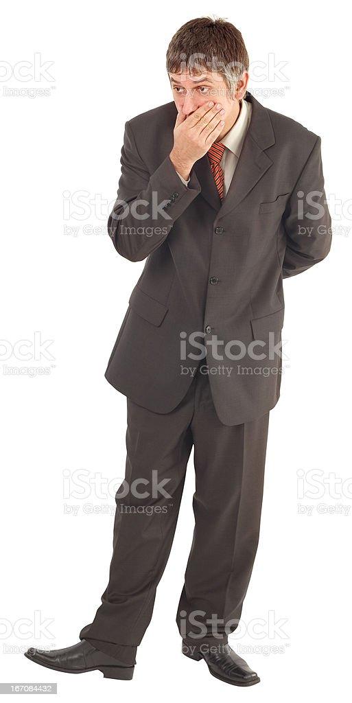 Surprised Man Cutout royalty-free stock photo