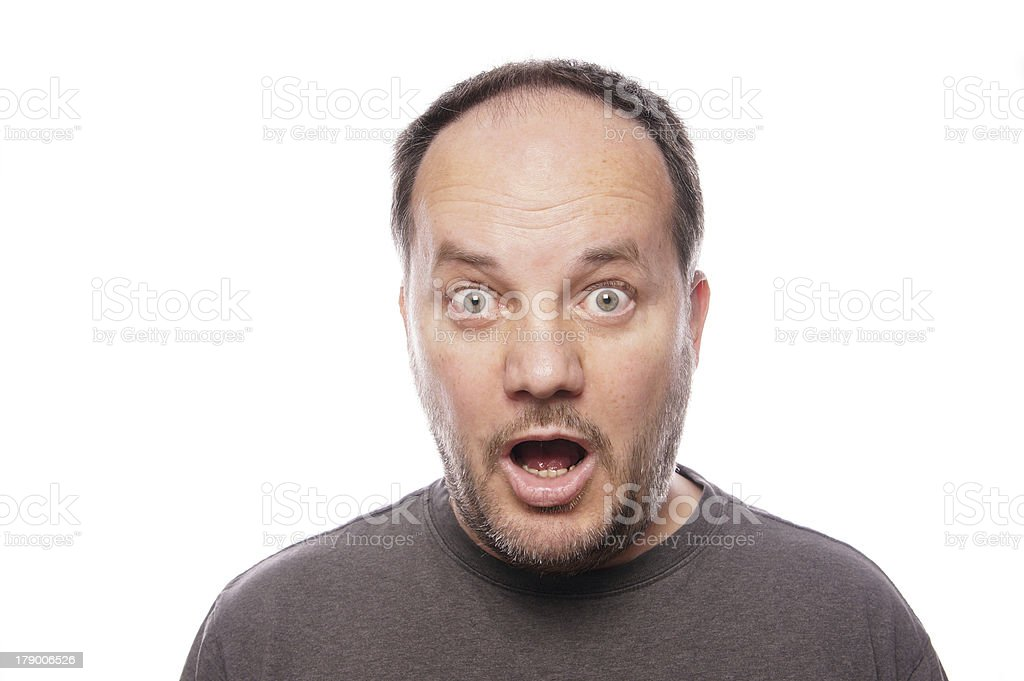 surprised man in his forties royalty-free stock photo