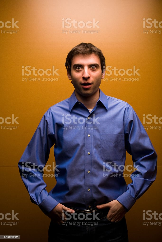 Surprised Man stock photo