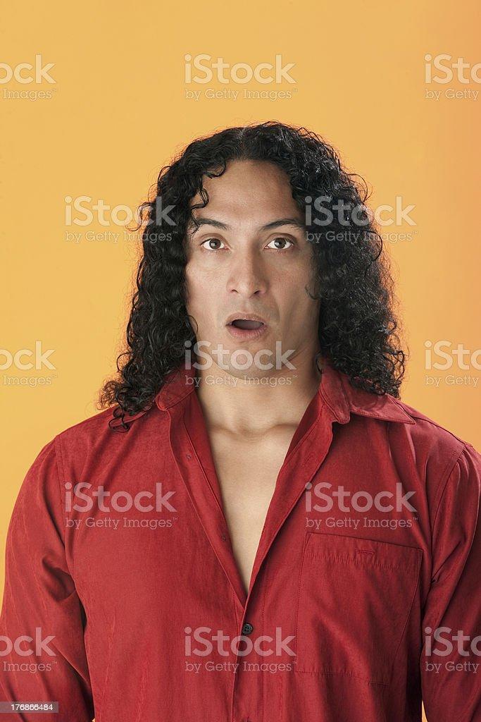 Surprised Man royalty-free stock photo