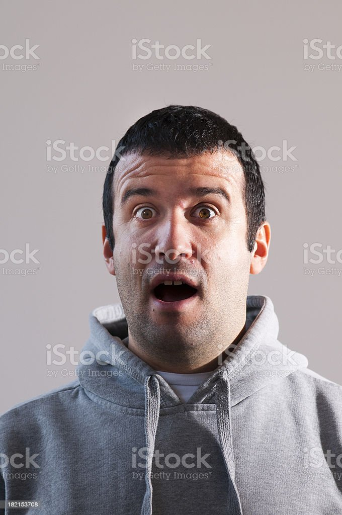 Surprised Man Portrait royalty-free stock photo