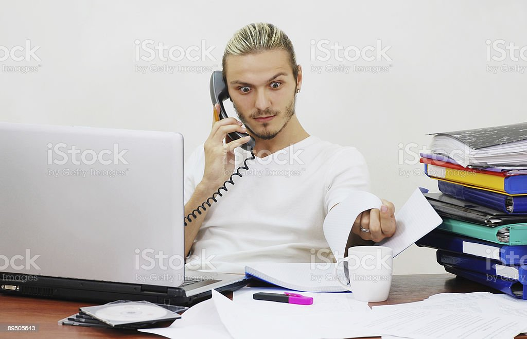 surprised manager royalty-free stock photo