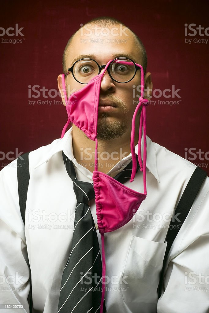 Surprised nerd royalty-free stock photo