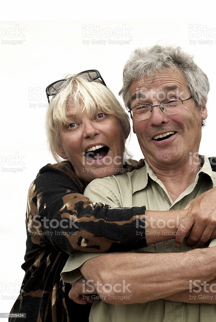 Surprised Pensioners royalty-free stock photo