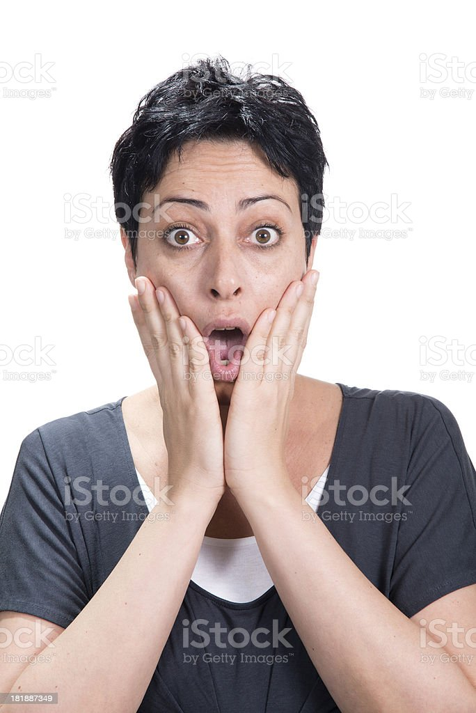 Surprised royalty-free stock photo
