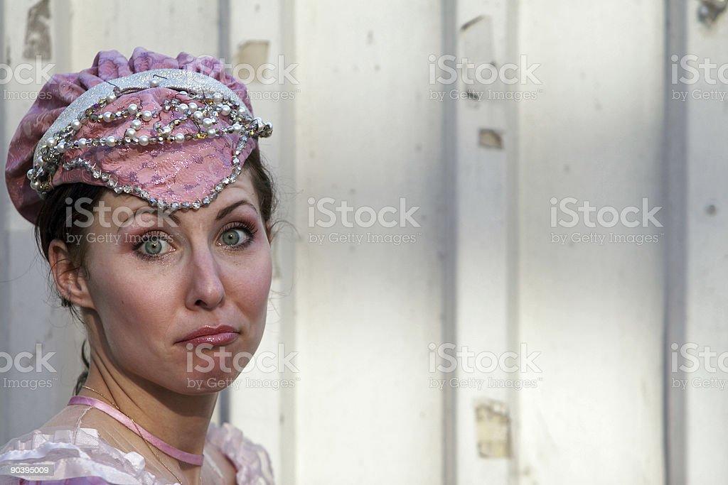 Surprised princess royalty-free stock photo