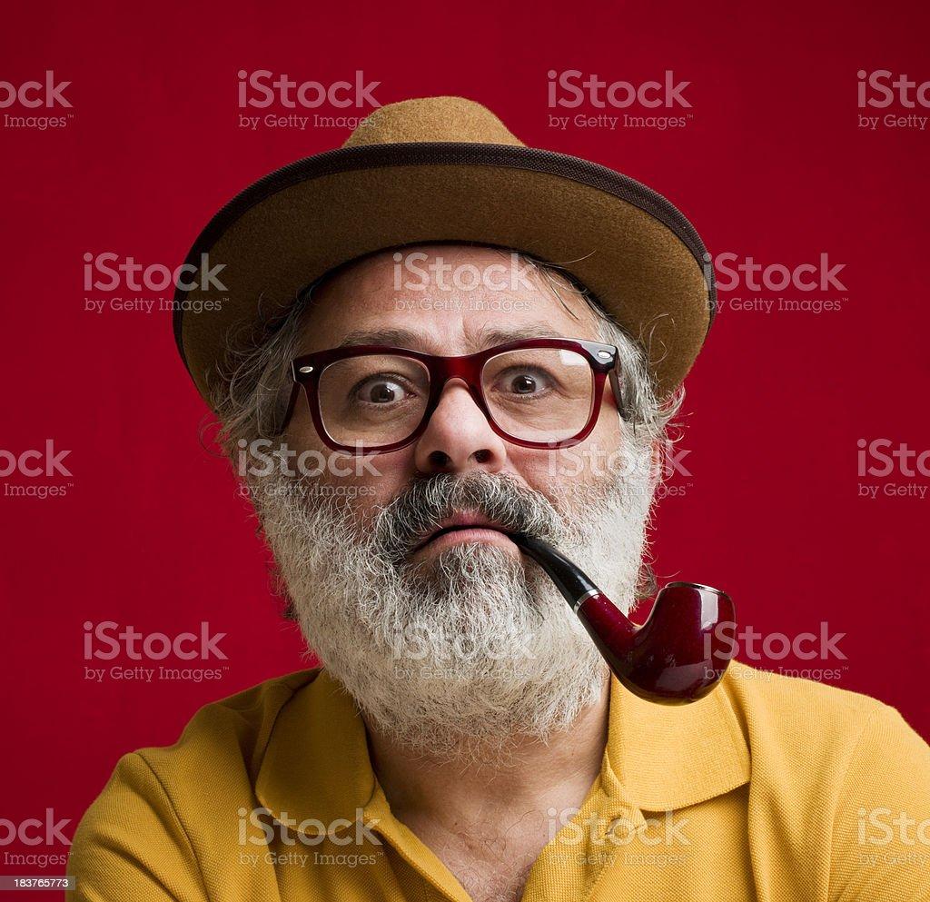 Surprised professor stock photo