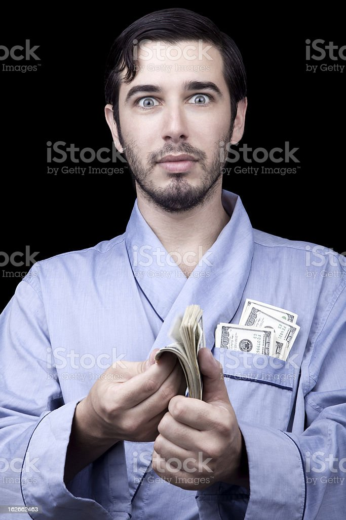 Surprised Rich Bum royalty-free stock photo