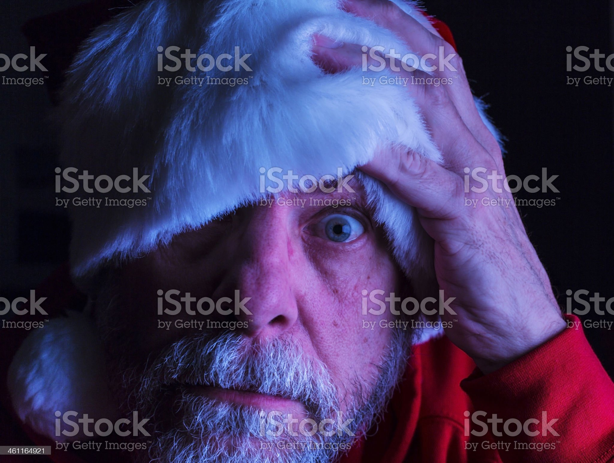 Surprised Santa Claus royalty-free stock photo