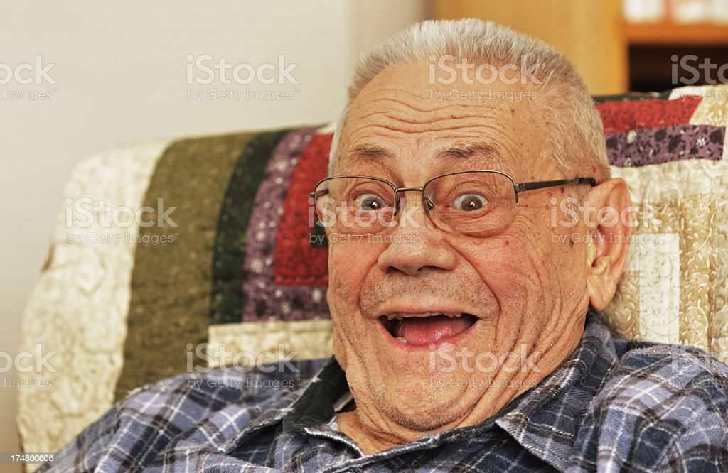 Surprised Senior Man royalty-free stock photo