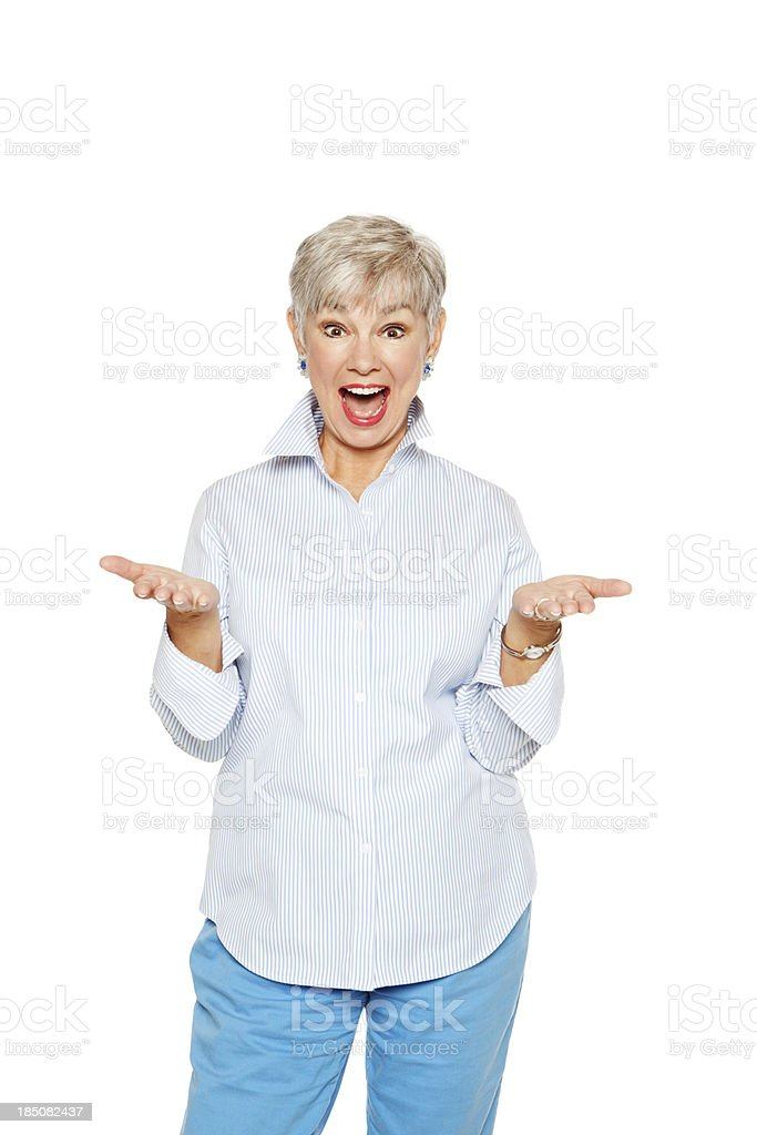 Surprised Senior woman royalty-free stock photo