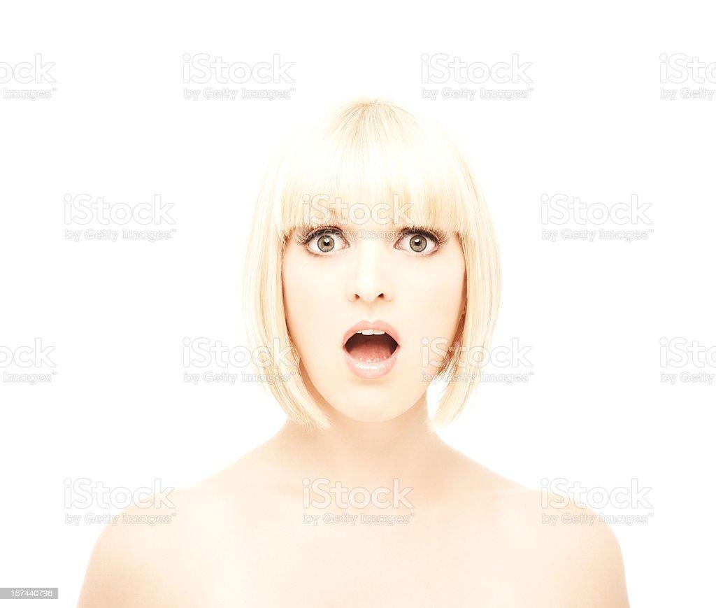 Surprised Woman Looking at Camera royalty-free stock photo