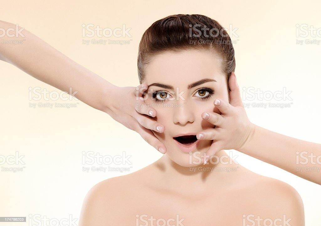 surprised woman royalty-free stock photo