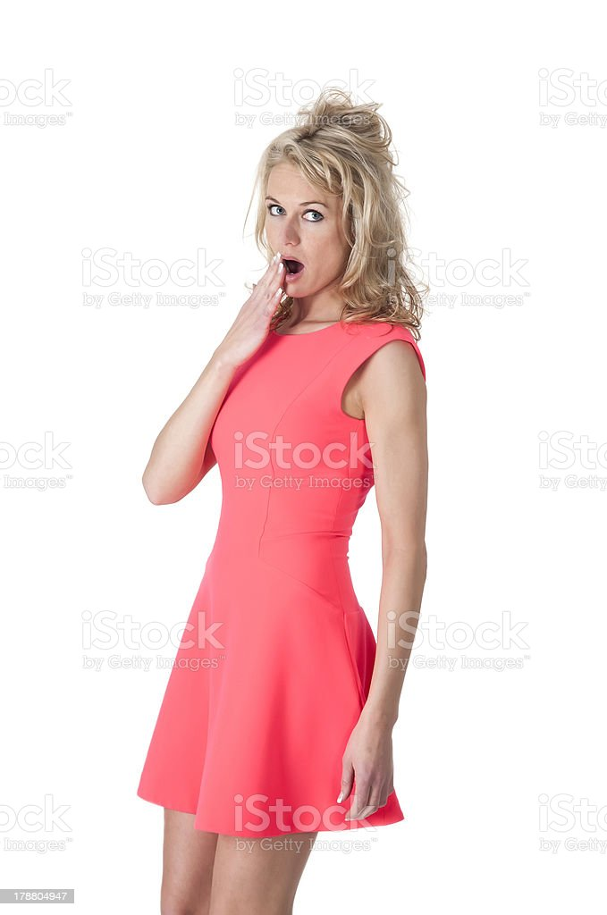 surprised woman stock photo