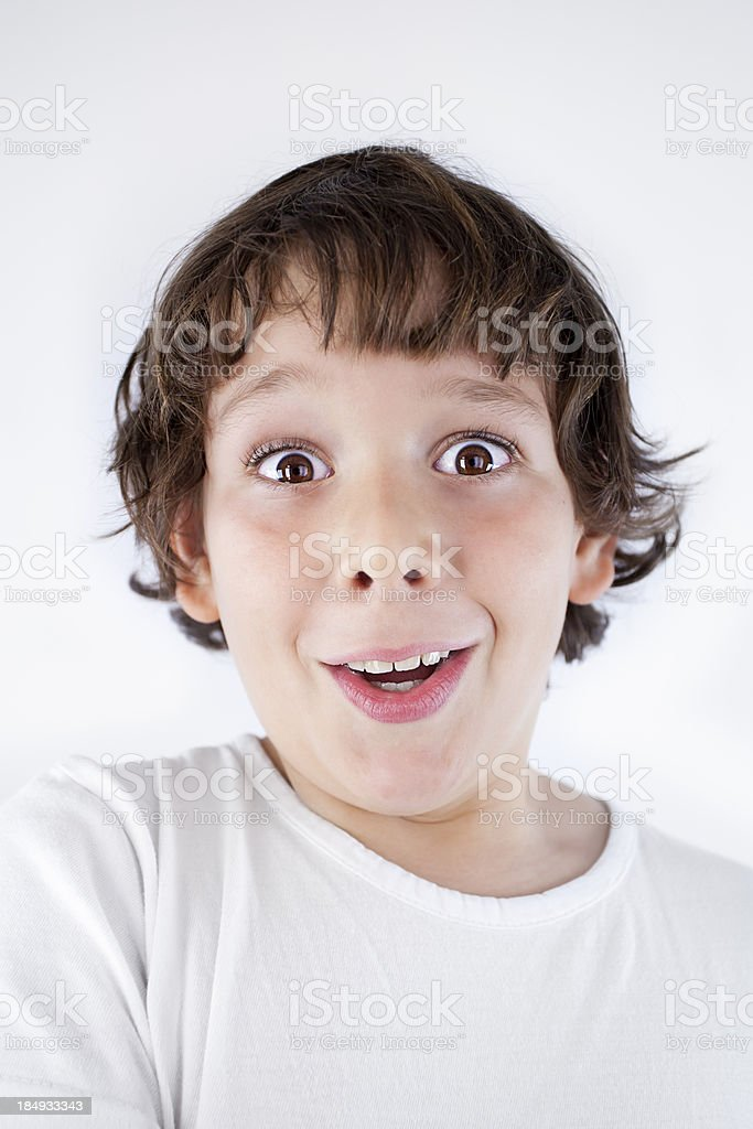 Surprised young child royalty-free stock photo