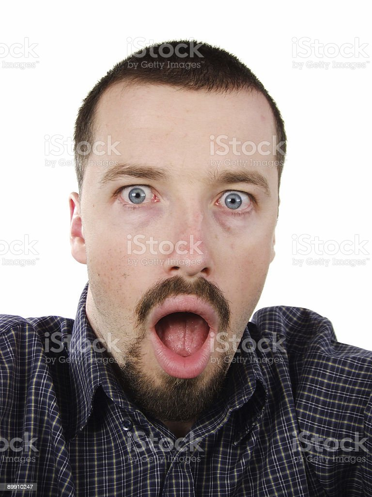 Surprised young man portrait royalty-free stock photo