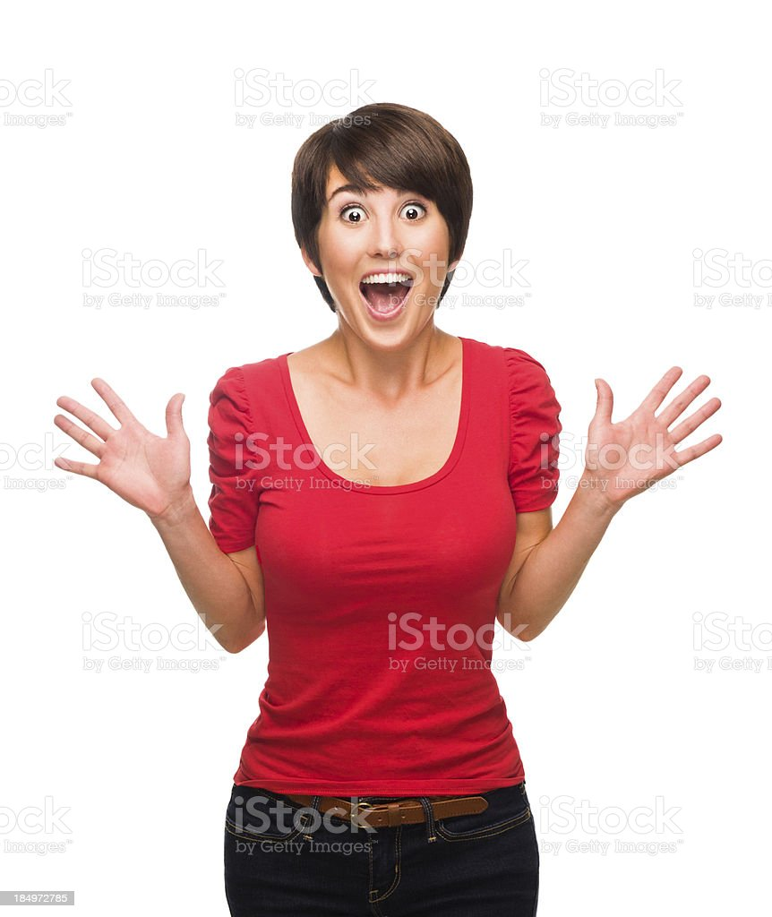 Surprised young woman royalty-free stock photo