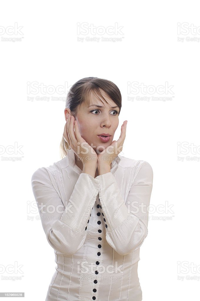 surprised young woman shoked royalty-free stock photo