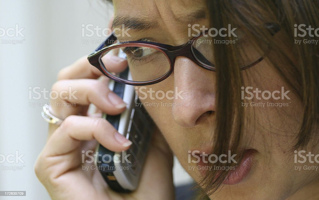Surprising call royalty-free stock photo