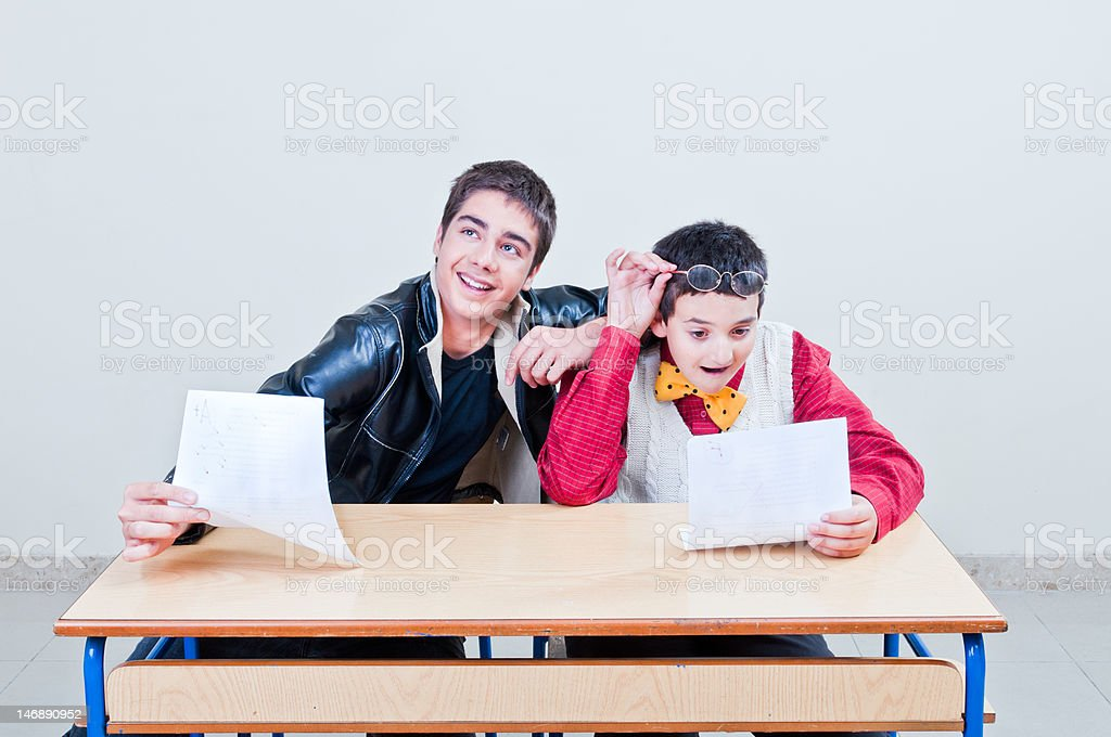 Surprizing test Results stock photo