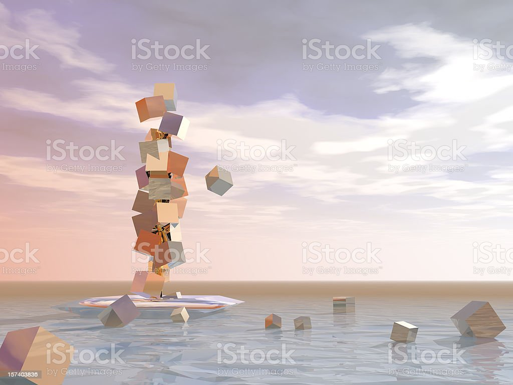 Surreal abstract of losing wealth royalty-free stock photo