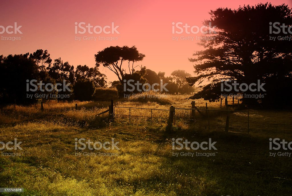 Surreal Aussie Countryside stock photo