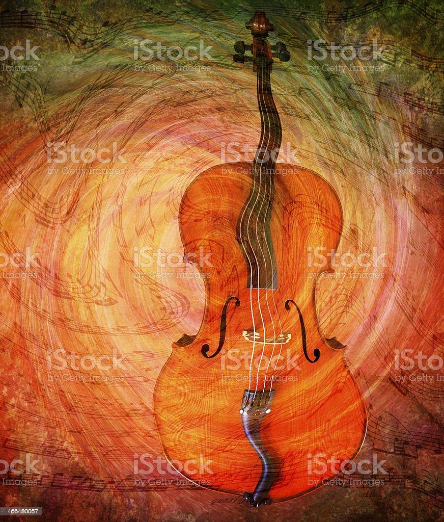 Surreal Cello royalty-free stock photo