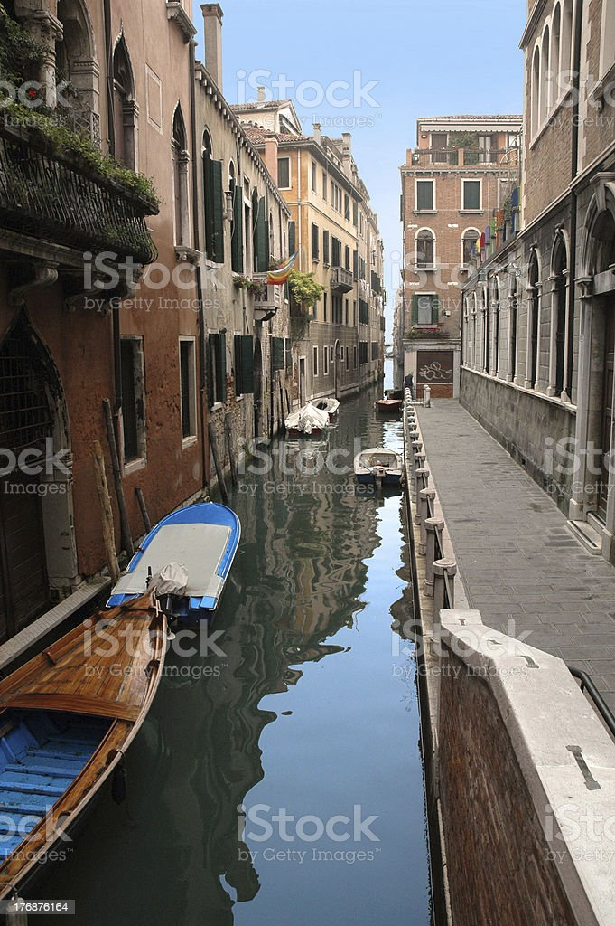 surreal channel in Venice stock photo