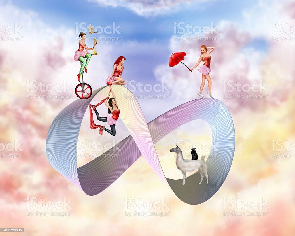 Surreal circus stock photo