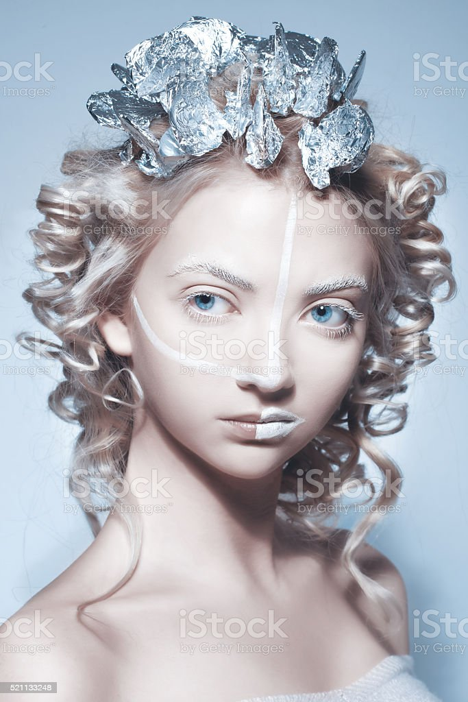 surreal fashion woman stock photo