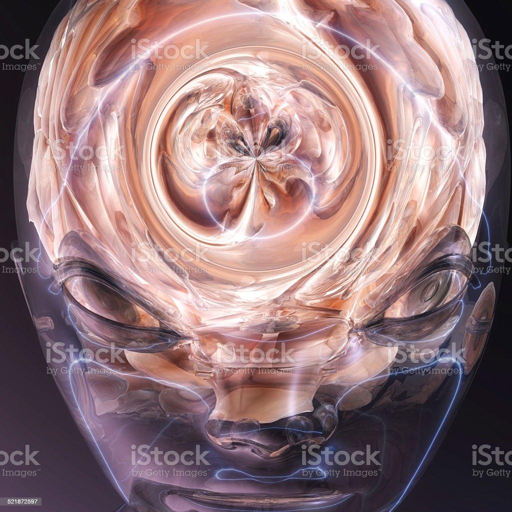 Surreal Human Brain stock photo