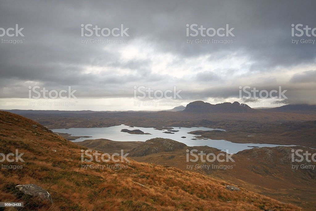 surreal landscape around Stac Pollaidh royalty-free stock photo