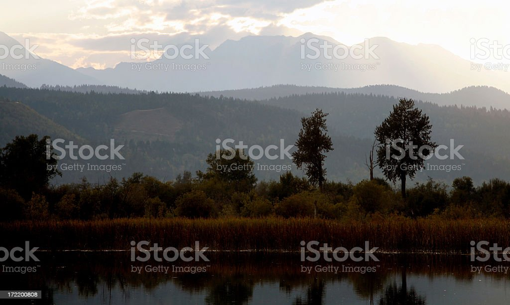 Surreal Landscape That Looks Just Like A Painting royalty-free stock photo