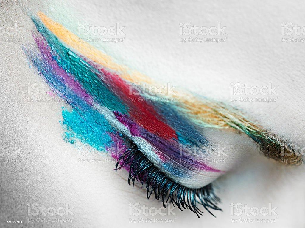 Surreal makeup royalty-free stock photo