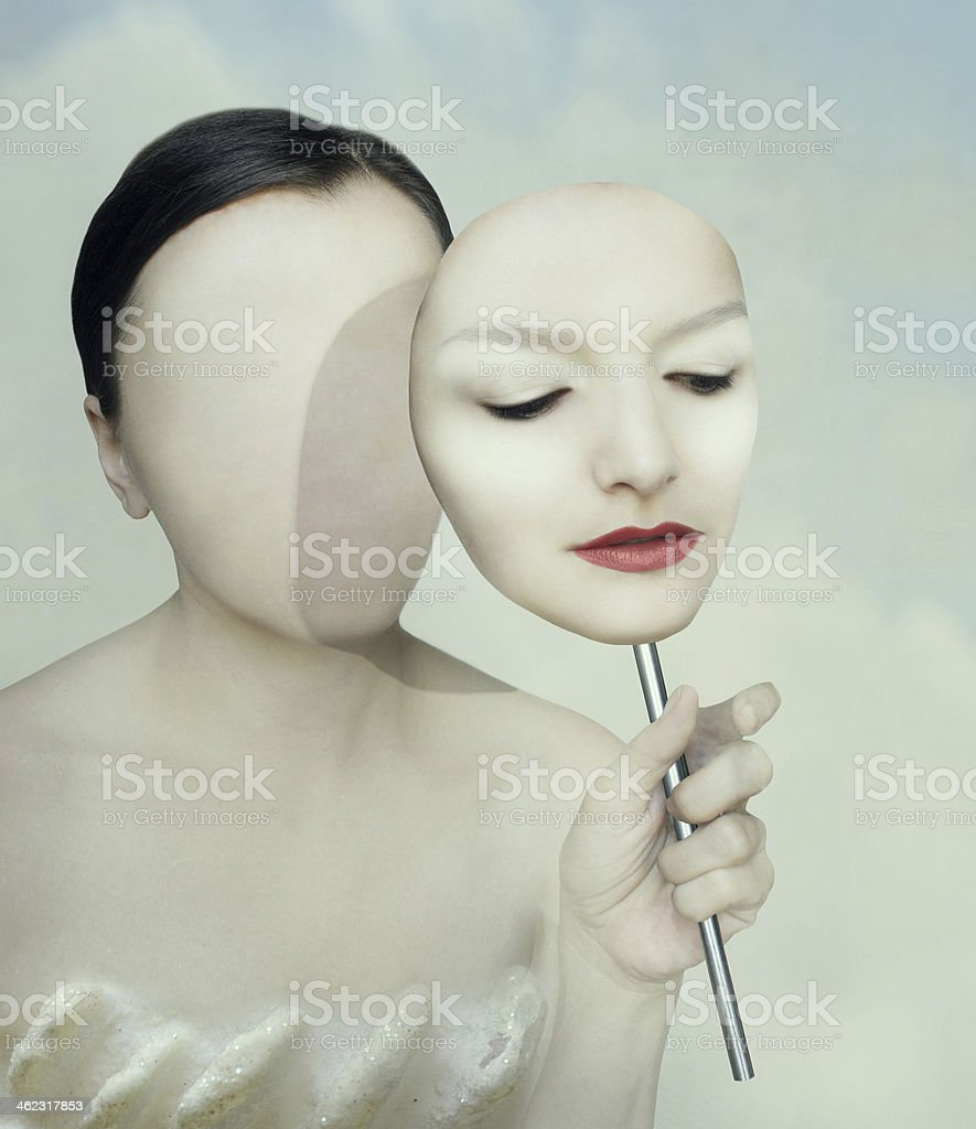 Surreal portrait stock photo