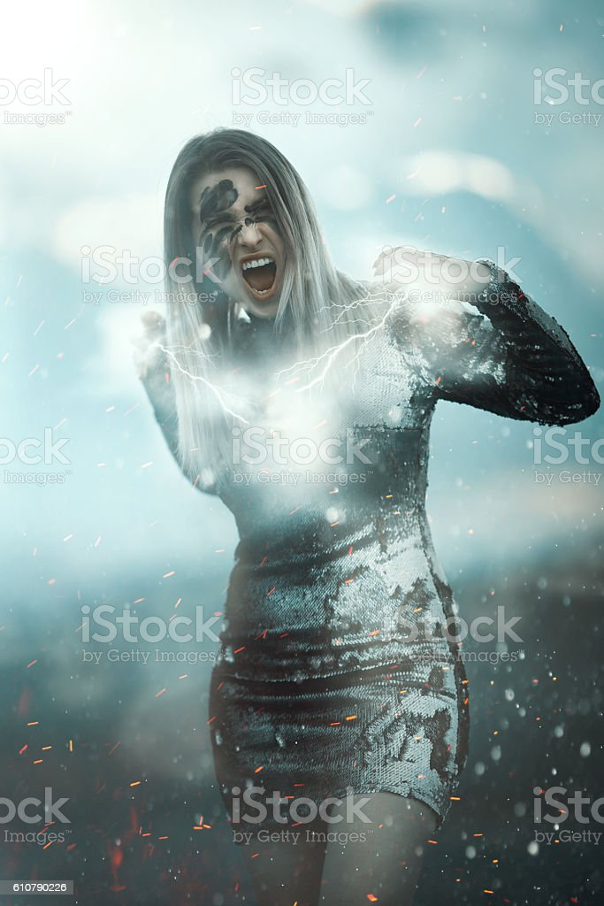 surreal power stock photo