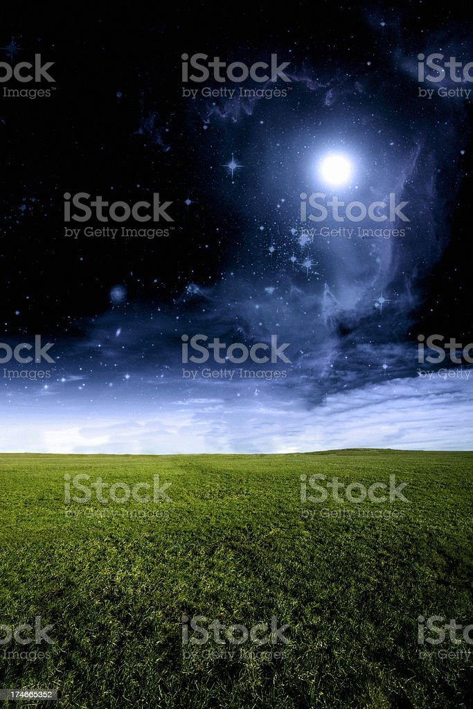 Surreal Sci-Fi Empty Landscape royalty-free stock photo
