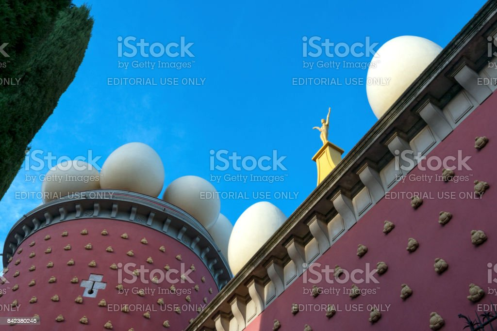 Surreal Spanish architecture stock photo