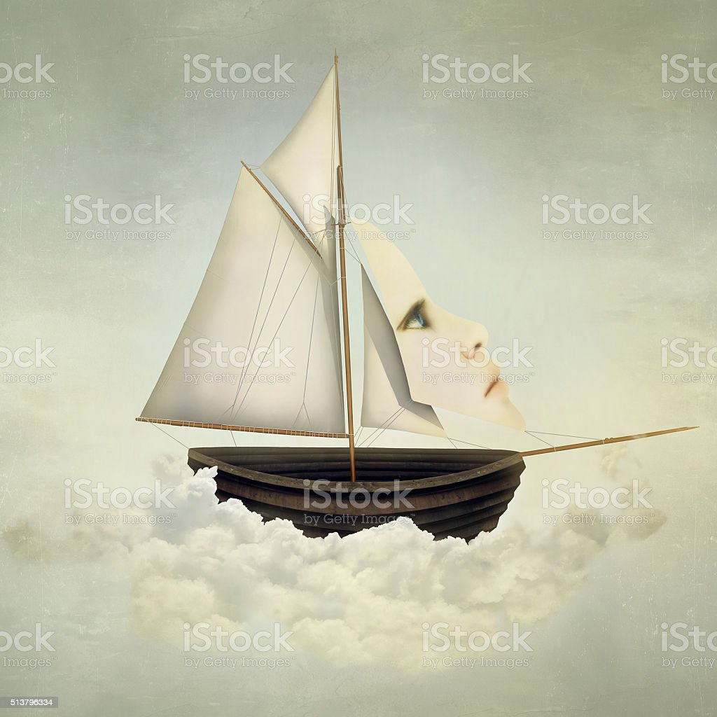 Surreal Vessel stock photo