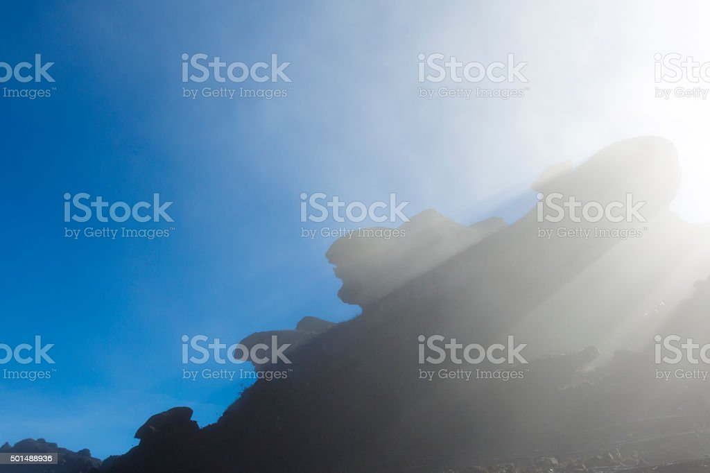 Surreal view on the top of Mount Roraima stock photo