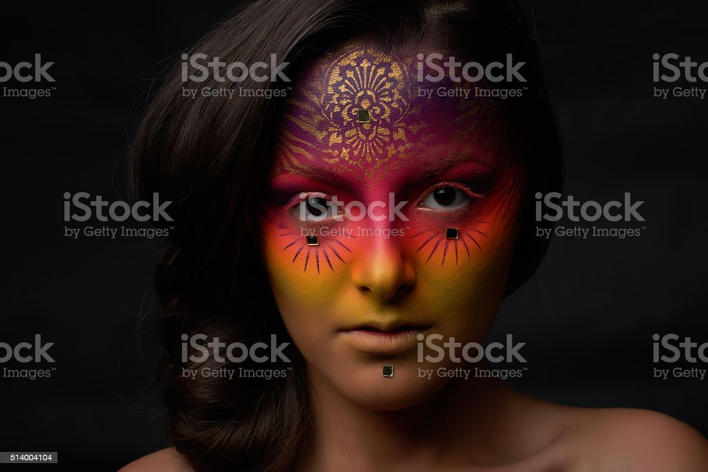surreal woman, fortune teller stock photo